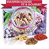 C&T Veganer Fit & Gourmet - Adventskalender 2019 - 24 Vegane, leckere Knabbereien Advent 24 mit Chiasamen, Mandeln, Cashews, Gojibeeren, Cranberries, fast komplett glutenfrei - Weihnachts-Kalender