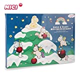 NICI Wellness Adventskalender Einhorn Theodor and Friends – Bade- und Pflegeprodukte Adventskalender ab 3 Jahren – Bath & Body Weihnachtskalender Kinder – Adventskalender mit tollen Geschenken – 44331