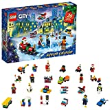 LEGO 60303 City Advent Calendar 2021 Mini Builds Set, Christmas Toys for Kids Age 5 with Play Board & 6 Minifigures